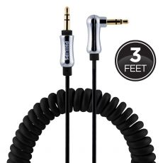 Philips 3ft. 3.5mm Coiled Auxiliary Audio Cable, Black