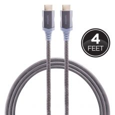 Philips Elite Plus 4 ft. Premium Certified HDMI Cable with Ethernet, Gray