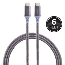 Philips Plus 6ft. Premium-Certified HDMI Cable with Ethernet, Gray