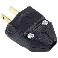 GE Replacement Polarized Household Plug, Black
