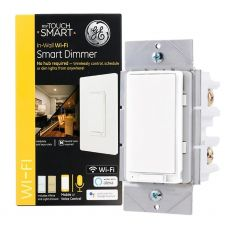 GE myTouchSmart In-Wall WiFi Smart Dimmer, White