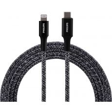 Philips 6ft. USB-C to Lightning Charging Cable with Braided Cord, Black