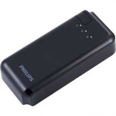 Philips 1-USB Battery Pack with Integrated Flashlight, Black