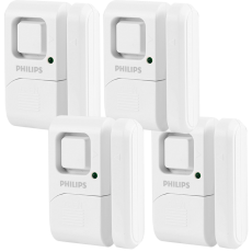 Philips Battery Operated Door Alarm, 4 Pack, White