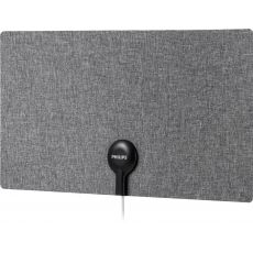 Philips Ultra Thin Fabric HD Antenna, Gray/White