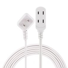 Philips 3-Outlet 15ft. Extension Cord with Flat Plug, White