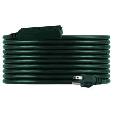 Philips 3-Outlet 25ft. Outdoor Extension Cord, Green