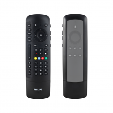 Philips 4-Device Universal Companion Remote for Fire TV with Flip and Slide Cradle, Black