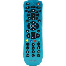 Philips 3-Device Universal Remote, Brushed Electric Blue