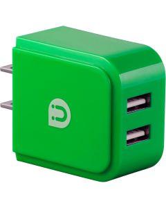 Uber 2-USB Charging Wall Tap, Green