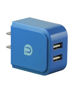 Uber 2-USB Charging Wall Tap, Blue