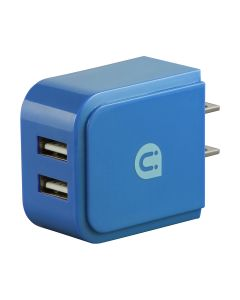 Uber 2-USB Wall Charger, Blue