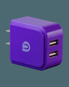 Uber 2-USB Charging Wall Tap, Purple