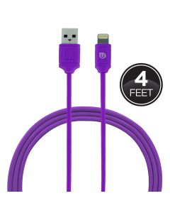 Uber 4ft. Lightning Charging Cable, Purple