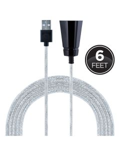 GE 6ft. USB Tabletop Extension Cable, White