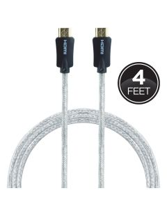 GE Pro Premium 4ft. 4K HDMI Cable with Ethernet, Black