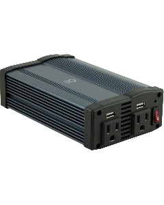 Power Gear 2-Outlet 2-USB Charging Portable Power Inverter, Black