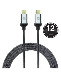 GE UltraPro Premium 12ft. 4K HDMI Cable with Ethernet, Silver