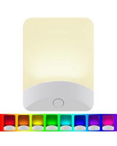 GE Color-Changing Light Sensing LED Night Light, White