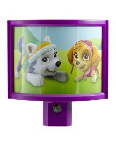 Nickelodeon Paw Patrol Wrap Shade Automatic LED Night Light, Purple