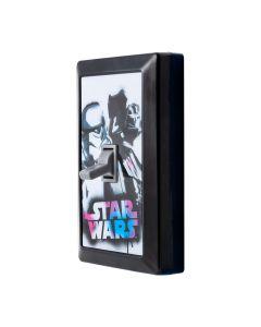 Star Wars Storm Trooper and Darth Vader LED Light Switch, Black