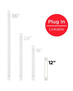 Honeywell 12in. Linkable Plug-In LED Under Cabinet Fixture, White