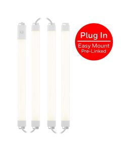 Honeywell 18in. Prelinked Plug-In LED Under Cabinet Fixture, 4 Pack