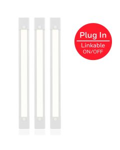 Honeywell 12in. Capacitive Touch Plug-In Linkable LED Light Fixture, 3 Pack, White