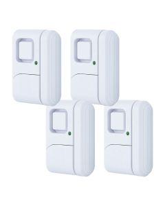 GE Personal Security Window or Door Alarm, White, 4 Pack
