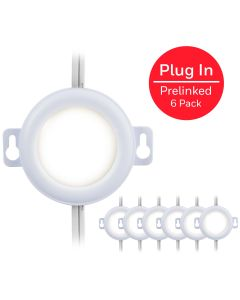 Honeywell Pre-linked Plug-In LED Puck Lights, 6 Pack, White