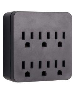 GE 6-Outlet Surge Tap, Black