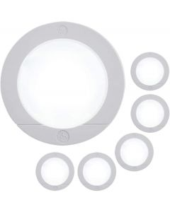 GE Battery Operated LED Puck Light, 6 Pack, White