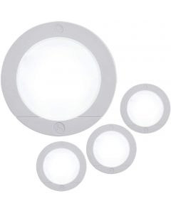 GE Battery Operated LED Puck Light, 4 Pack, White
