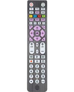 GE 6-Device Backlit Universal Remote, Brushed Black