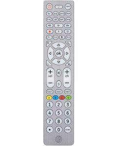 GE 8-Device Backlit Universal Remote, Brushed Silver