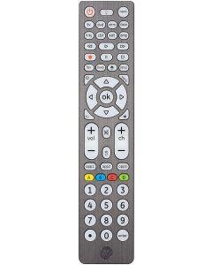 GE 8-Device Backlit Universal Remote, Brushed Graphite