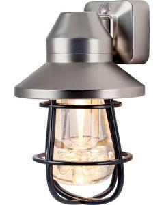 GE Vintage Cage Frame LED Night Light, Brushed Nickel