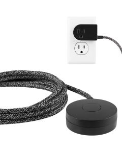 Cordinate Tabletop Switch with 6ft. Braided Cord, Black