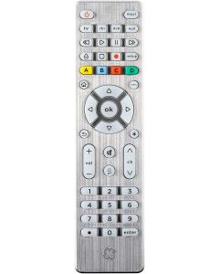 GE 4-Device Backlit Universal Remote, Brushed Silver