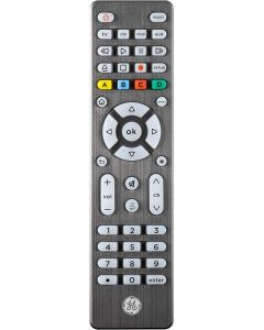 GE 4-Device Backlit Universal Remote, Brushed Graphite