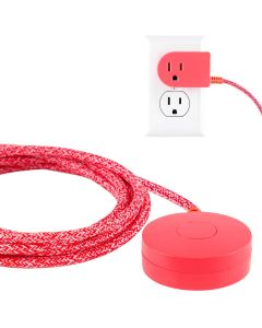 Cordinate Tabletop Switch with 6ft. Braided Cord. Coral