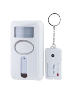 GE Personal Security Motion Sensing Alarm with Keychain Remote, White
