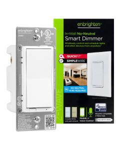 Enbrighten Z-Wave No-Neutral Smart Dimmer with QuickFit™ and SimpleWire™
