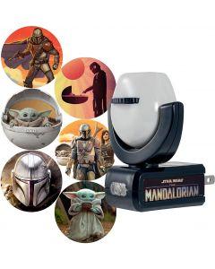 Projectables Star Wars The Mandalorian Plug-In Light Sensing 6-Image LED Night Light