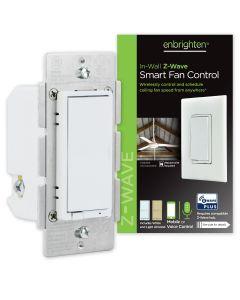 Enbrighten Z-Wave In-Wall Smart Fan Control, White/Almond