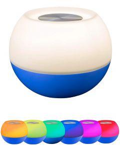 Enbrighten USB-Powered Color-Changing Tabletop LED Mini Bowl Night Light, Cobalt Blue