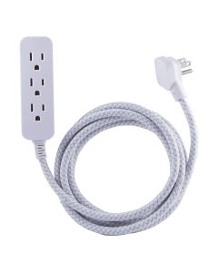 Philips Elite 3-Outlet 8 ft. Extension Cord with Surge Protection, White