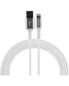 Philips 6ft. USB-A Lightning Braided Charging Cable, White