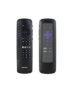 Philips 4-Device Universal Companion Remote for Roku with Flip and Slide Cradle, Black