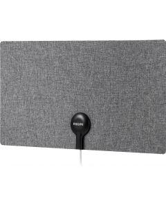 Philips Ultra Thin Fabric HD Antenna, Gray/White